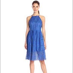 Xs Parker Lace midi dress blue